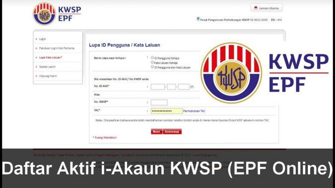 Pendaftaran I Akaun Kwsp Secara Emel